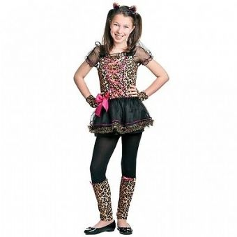 PRECIOUS LEOPARD ANIMAL CAT CHEETAH GIRLS FANCY DRESS COSTUME